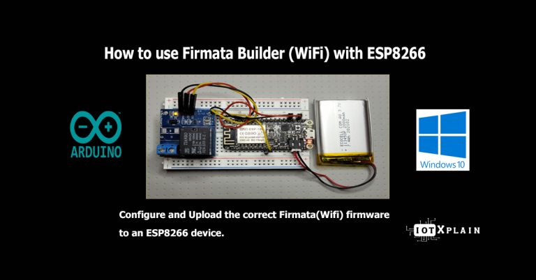 How to use Firmata Builder (Wi-Fi) with ESP8266