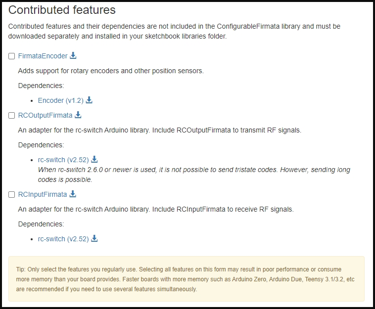 Contributed Features
